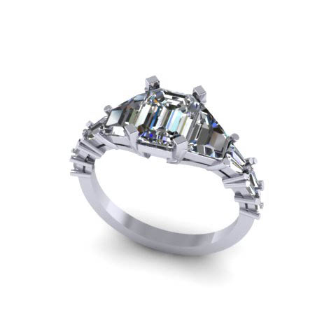 diamond wedding band custom